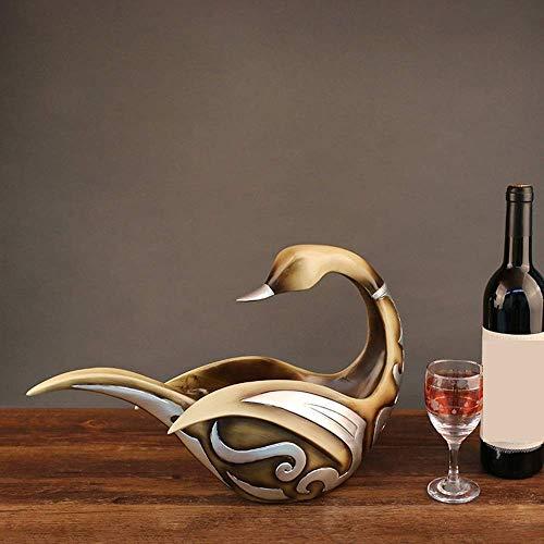 CMMT Estante de Vino Resina Duck Hogar Estante de Vino Gabinete de Vino Porche Decoración del hogar Muebles Adornos Decorativos 42 * 15 * 30cm