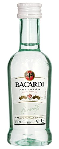 12 x Bacardi Rum Ron Superior 37,5% Vol. 0,05l
