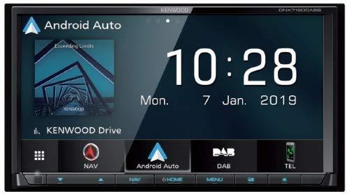 Kit de Montaje: Kenwood DNX7170DABS Sistema de navegación Radio + Doble Doble Apertura 2 DIN + Adaptador de Radio ISO extensión para Fiat Ducato (250*) 06/2006 - 2011 con Conector ISO