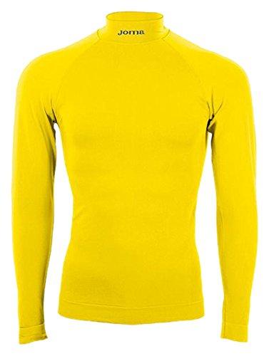 Joma Brama Classic - Maglia termica unisex, colore giallo. Taglia L-XL