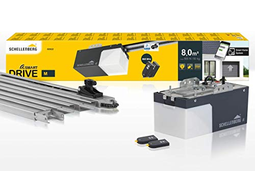 Schellenberg 60922 Garagentorantrieb Smart Drive M mit 2X 868 MHz Handsender, max. Torfläche 8 m², 500 N Zugkraft, automatische Endlageneinstellung