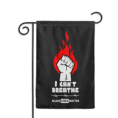 dili-bala I Can't Breath Flags Schwarz Lives Matter Gartenflagge Anti-Racismus Bewegung Gleichheit Social Change Politische Banner multi
