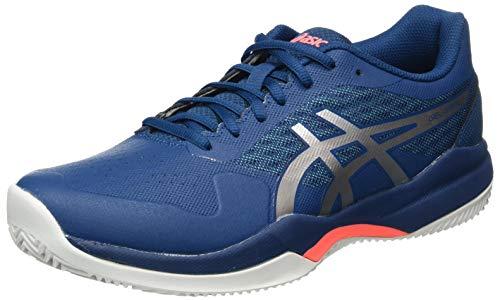 ASICS Gel-Game 7 Clay, Zapatos de Tenis para Hombre, Mako Blue Pure Silver Cover Case Azul, 44 EU