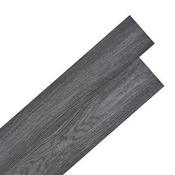 Foto di vidaXL Listoni Pavimentazione Autoadesivi PVC 5,02 m² 2mm Nero Bianco Listelli