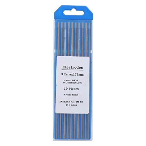 Varilla de electrodo de tungsteno de soldadura WC20 gris de 3,2 mm, equipo de aguja de arco de circonio para productos finos de acero inoxidable, aluminio y aleación
