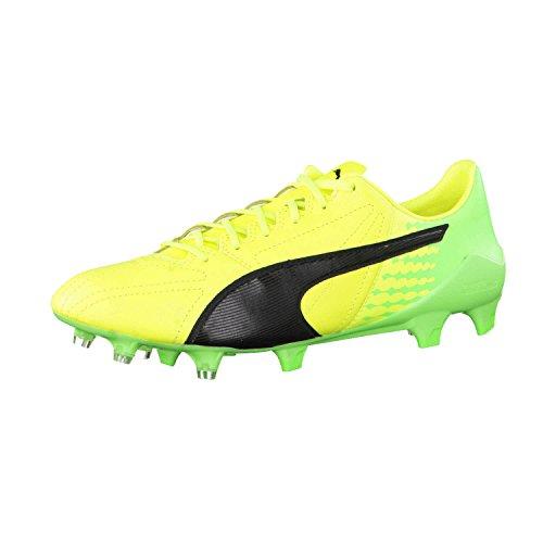 PUMA Evospeed 17SL Hartböden Erwachsene Fußball Stiefel 45–Fußballschuh (Hartböden, Erwachsener, männlich, Schwarz, Limette, Gelb, einfarbig, Leder, Kunststoff)