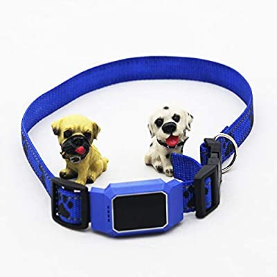 hailianhua PetFon Pet GPS Tracker, No Monthly Fee, Real-Time Tracking Collar Device, APP Control for Dogs and Pets Activity Monitor (Blue)
