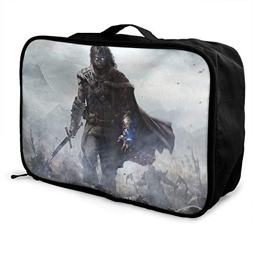 Middle Earth Shadow of Mordor Travel Lage Bolsa de viaje ligera maleta portátil Bolsas para mujeres hombres niños impermeable grande Bapa Caity