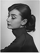 TUVSK Canvas Prints Black And White Audrey Hepburn Wall Art Canvas Painting Nordic Posters And Prints Decorative Pictures Home Decor Picture 4 20x25cm No Frame