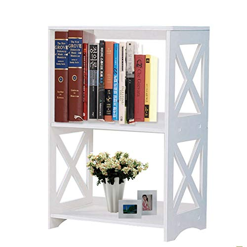 BTGGG Side Table Small Bookcase Chic Bedside Table Night Stand Storage Cabinet for Living Room Bedroom Entryway Office, Easy Assemble, White