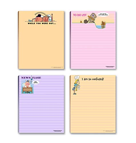 Funny Notepads for the Office - 4 Assorted Funny Office Notepads - Office Notepads
