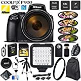 Nikon COOLPIX P900 Digital Camera 16MP 83x Optical Zoom & Built-in Wi-Fi + LED Light + Macro Filter Kit + UV Protection Filter + Wireless Remote + Tripod - International Version