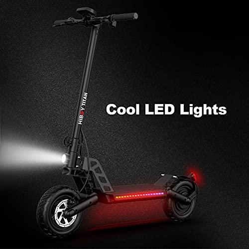 Scooter eléctrico Motor de 800W neumáticos de 10' E-Scooter de 48V de Largo Alcance 50km 45km/h Nueva Mejora, Freno de Disco Doble Delantero y Trasero, Sistema de absorción de Impacto