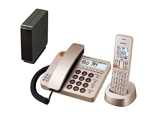シャープ 電話機 コードレス デザインモデル 子機1台付き 迷惑電話機拒否機能 1.9GHz DECT準拠方式 ゴールド系 JD-XG1CL-N