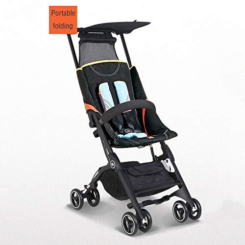 Lowest Prices! Tagke Boys and Girls Pocket Car Strollers Can Sit Reclining Portable Folding Car Can ...