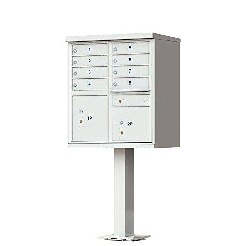 1570 Horizontal USPS 8-Unit Cluster Box Unit Finish: Postal Gray