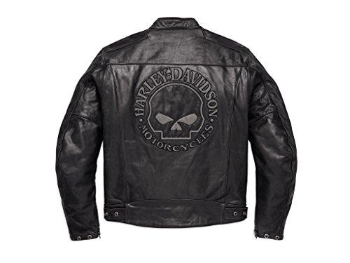 Harley-Davidson Reflective Skull Leder Jacke, 98122-17EM, L