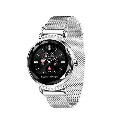 H2 Fashion Smart Damenuhr,Herzfrequenz/Blutdrucküberwachung,Magnetband/Farbdisplay /IP67 Wasserdicht/Intelligente Uhr Fitness Tracker Armband für Frauen