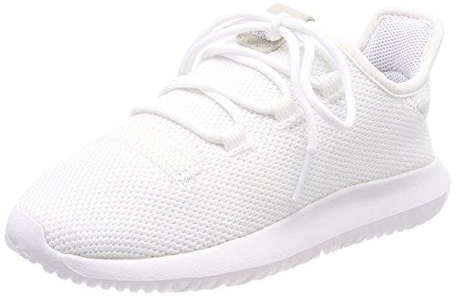 adidas Unisex-Kinder Tubular Shadow Fitnessschuhe, Footwear White/Core Black, 31 EU