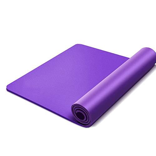 Yoga mat LKU Yogamat zachte beginners Pilates antislip yogamat homegym yoga, paars 183x80x1.5cm