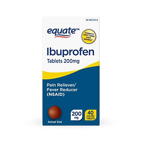 Equate Ibuprofen Coated Tablets 200 mg, 40ct