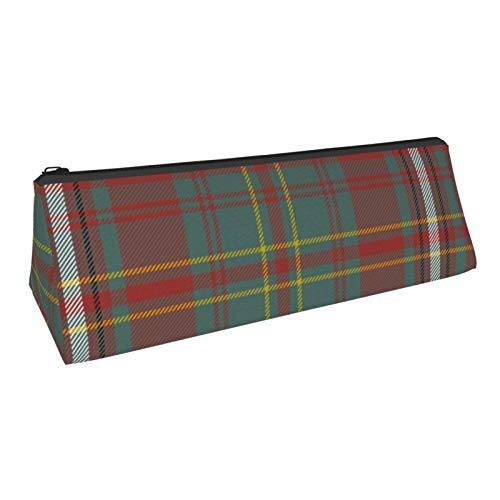 Triangle Pen Bag Hay Hayes Tartan Cosmetic Bags Storage Bags Stationery for Schools Students Offices Pen Pouch 8.6 X 3.1 Inch