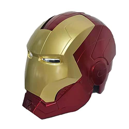 Iron Man Superhero Casco Avengers 1 / 1props Collezionismo Unisex da Indossare e con LED Light Giocattolo Cosplay Perfetto Props,Red