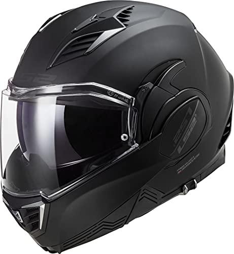 LS2 Herren Valiant II Full Motorrad Helm, Schwarz Matt, XXL
