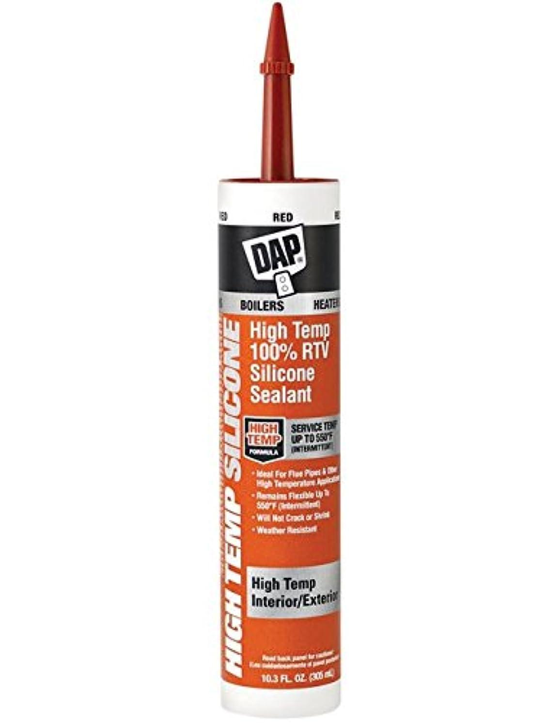 DAP 8013 80133 High Temperature 100% Rtv Silicone Sealant, 10.3 Fl-Oz, Red