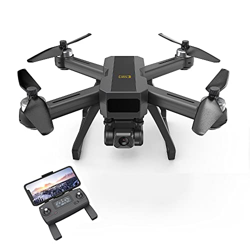 JeeKoudy GPS Drone 3 Axis Gimbal con Fotocamera 4K, 5g Anti-Shake FPV Video Live Video, 130 ° grandangolo, Motore brushless, Ritorno Automatico a casa, seguimi, Flusso Ottico, Quadcopter per Adulti