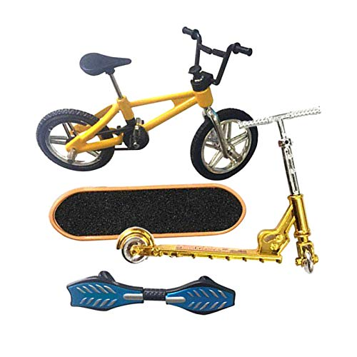 FITYLE 4 Piezas Juguetes Finger Fingerboard Skateboard Bicicleta Scooter pequeño Swing Board, 1: 18 báscula - C