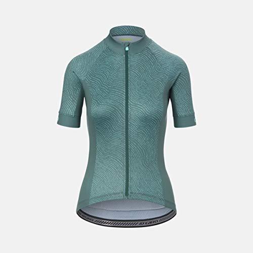 Giro Chrono Sport Trikot Damen Grey Green Pounce Größe L 2021 Radtrikot kurzärmlig