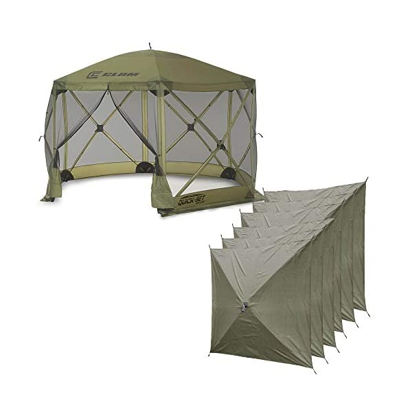 Quick-Set Clam Escape 12×12 ft. Portable Camping Outdoor Gazebo Canopy Shelter...