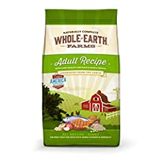 This Whole Earth Farms natural dry dog food recipe is crafted to support the nutritional needs of your adult dog This natural dog food recipe with added vitamins and minerals features protein-rich real chicken and whitefish A healthy whole grain dog ...