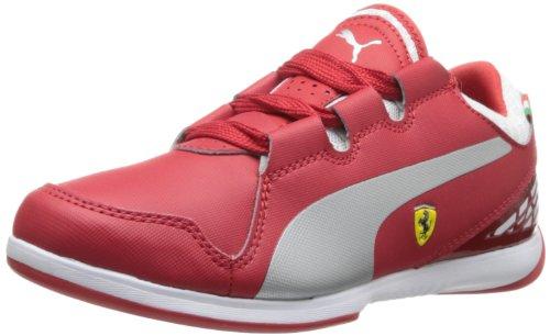 PUMA Valorosso Ferrari JR - Zapatillas deportivas para niños pequeños y grandes, Rojo (Rosso Corsa/Plata Metálico/Blanco), 38 EU