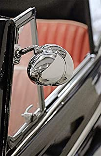 1x Außenspiegel 25 x 17 cm Edelstahl Spiegel Klemmspiegel universell passend für viele Fahrzeuge~