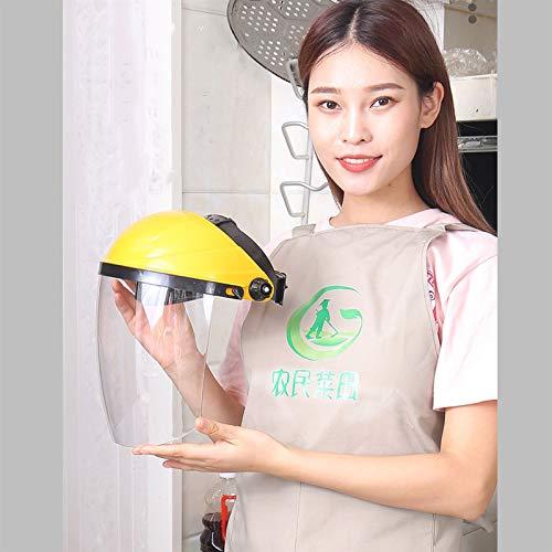 Amarillo pantalla protectora for la cara, Anti saliva Splash, Banda elástica for toda la cara cubierta de doble cara anti-niebla cocina for cocinar anti-salpicadura de aceite 1 PCS