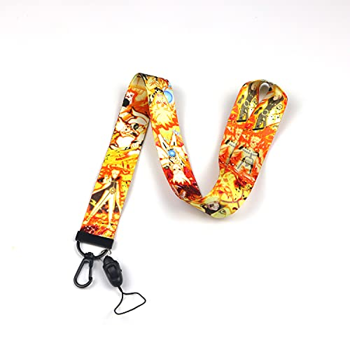 Akatsuki Anime Cartoon Print Lanyard Key Chain Neck Strap Retractable Reel Clip with Lobster Carabiner for Fans,Keychain, ID Badge Holder, Cell Phone, and Charms Neck Strap (Akatsuki2-LAY)