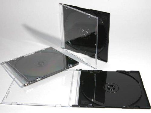 Dragon Trading® CD-/DVD-Hüllen für 1 CD / DVD, 5,2 mm, mit schwarzem Einsatz, 50 Stück