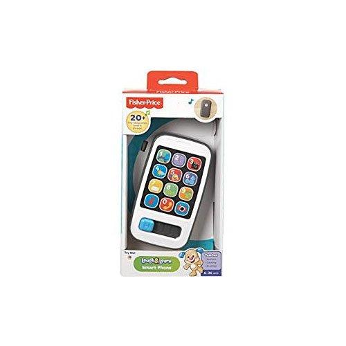 Fisher-Price 900 BHC01 Smartphone lachen und lernen elektronisch sprechend Kinder Rollenspiel-Handy, Englisch-sprachig, geeignet für Kinder ab 6 Monaten