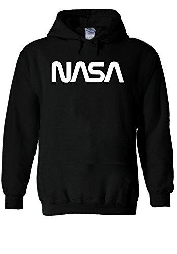 Nasa Retro Vintage Old Space Man Novelty Black Men Women Unisex Hooded Sweatshirt Hoodie-S