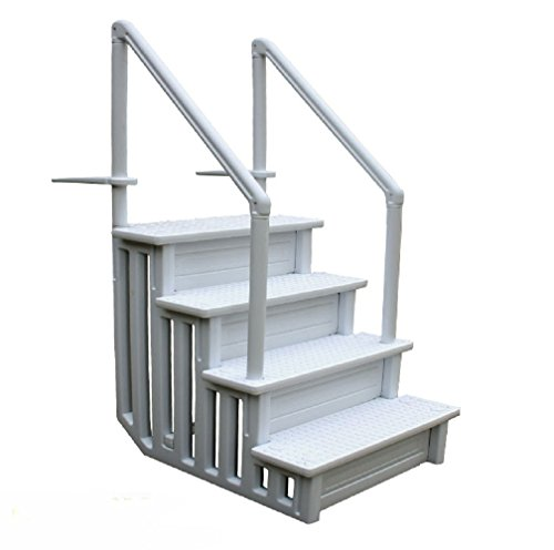JDM Auto Lights Swimming Pool Ladder Heavy Duty Step System Entry Non Slippery Above Ground