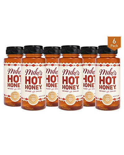 Mike's Hot Honey 10 oz Easy Pour Bottle (6 Pack), Honey with a Kick, Sweetness & Heat, 100% Pure Honey, Shelf-Stable, Gluten-Free & Paleo