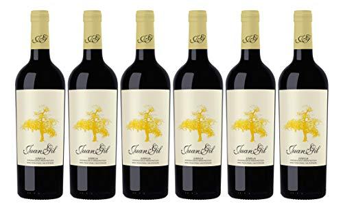 Bodegas Juan Gil Vino Tinto, Etiqueta Amarilla - 6 Paquetes x 750 ml - Total: 4500 ml