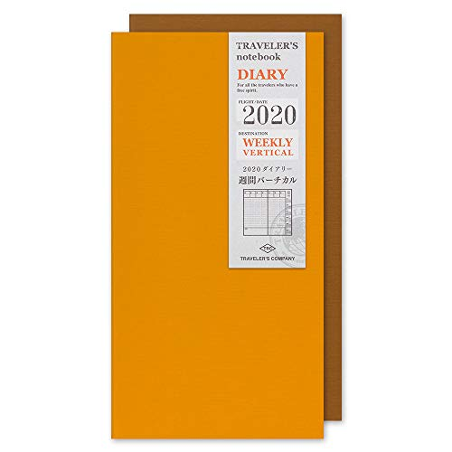 Traveler's Notebook 2020 Weekly Vertical Diary Regular Size - Refill agenda settimanale