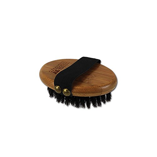 Alcott Bamboo Groom Palm Brush with Boar Bristles for Pets