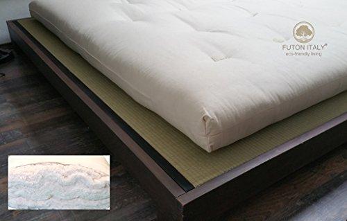 Futon Matelas en pur coton grains fait à la main en Italie mesure 80 x 200 cm