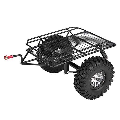 Tolva de Remolque de Metal, Tolva de Remolque de Coche de Metal Trail DIY para D90/SCX10/TRX-4 1/10 Escala RC Crawler Car
