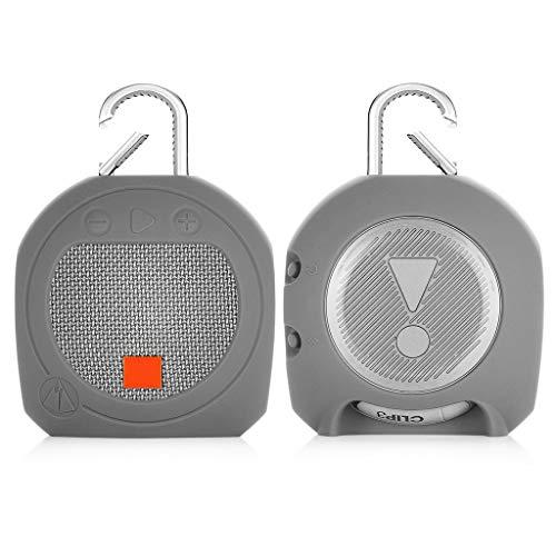GHTGHTS Funda Protectora de Silicona Suave con Carcasa de Gancho para J-B-L Clip 3 Accesorios para Altavoces Bluetooth