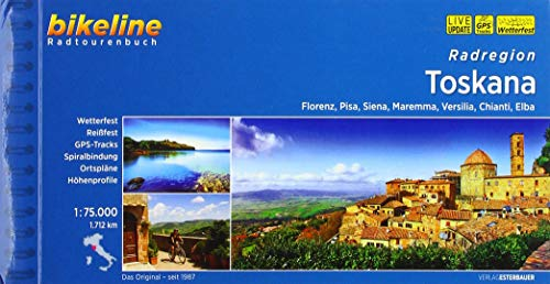 Bikeline Radregion Toscana: Florenz, Pisa, Siena, Maremma, Versilia, Chianti, Elba - 1:75.000, 1.712 km
